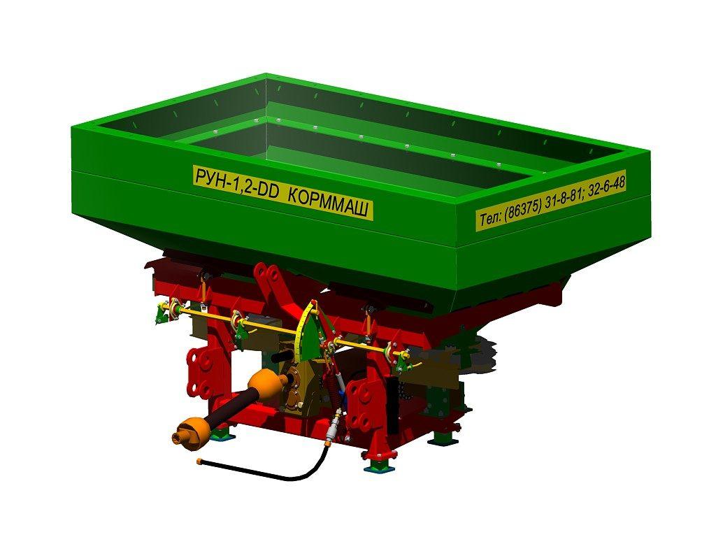 Разбрасыватель удобрений навесной РУН-1,2 DD K двухдисковый